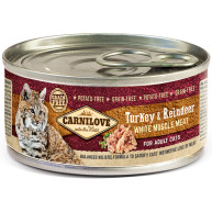 Carnilove Turkey & Reindeer Wet Adult Cat Food 100g x 6