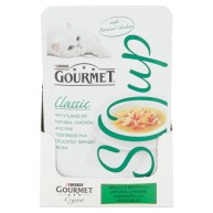 Gourmet Classic Soup Chicken & Vegetables Adult Cat Food 40g x 32