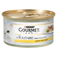 Gourmet Solitaire Mini Chicken Fillets Wet Cat Food 85g x 12