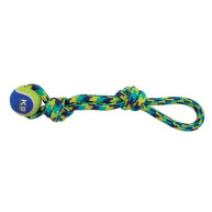 K9 Fitness Tennis Ball & Rope Tug Dog Toy