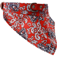 Earthbound Paisley Red Bandana Dog Collar Small