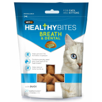 Mark & Chappell VetIQ Healthy Bites Breath & Dental Cat Treat  65g