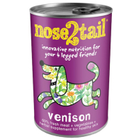 Nose 2 Tail Venison Dog Food 395g x 12