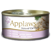 Applaws Sardine Can Kitten Food 70g x 24