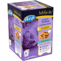 HiLife Indulge Me! Pouch Flaked Tunas Combi in Jelly Adult Cat Food  80g x 6