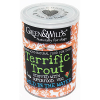 Green & Wilds Terrific Trout Dog Food 395g x 12