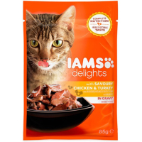 IAMS Chicken & Turkey in Gravy Adult Cat Food 85g x 24