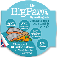 Little Big Paw Steamed Salmon & Veg Dinner Dog Food 85g x 8