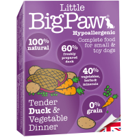 Little Big Paw Dog Tender Duck & Veg Dinner Dog Food 150g x 7