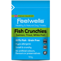 Feelwells Crunchies Dog Treats 90g Fish