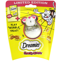 Dreamies Snacky Mouse with Cheese Dreamies Cat Treats 60g Dreamies + Snacky Mouse Toy