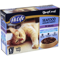 HiLife Tempt Me! Pouch Seafood Assortment Adult Cat Food 8 x 85g
