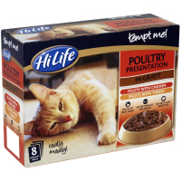 HiLife Tempt Me! Pouch Poultry Presentation Gravy Adult Cat Food 85g x 8