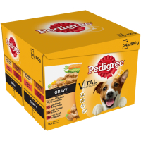 Pedigree Pouch Real Meals in Gravy Adult Dog Food 100g x 24