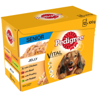 Pedigree Pouch Healthy Vitality in Jelly Senior Dog Food 100g x 12