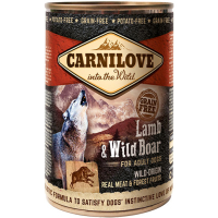 Carnilove Lamb & Wild Boar Adult Dog Food 400g x 6