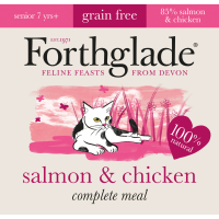 Forthglade Complete Salmon & Chicken for Senior Cats 90g x 12
