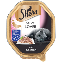Sheba Sauce Lover With Salmon Adult Cat Food 85g x 18