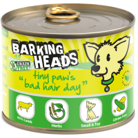 Barking Head Tiny Paws Bad Hair Day Wet Adult Dog Food 200g x 6 Tin