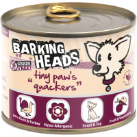 Barking Heads Tiny Paws Quackers Wet Adult Dog Food 200g x 6