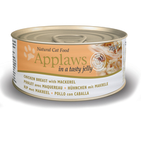 Applaws Chicken & Mackerel In Jelly Can Adult Cat Food 70g x 24