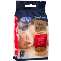 Hilife Tempt Me! Petit Portions Beef In Sauce Recipes Adult Cat Food 50g x 6