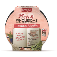Lovejoys Hearty & Wholesome Salmon Risotto Dog Food 142g x 7