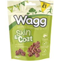 Wagg Skin & Coat Duck & Cranberry Dog Treats 125g