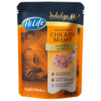 HiLife Indulge Me! Pouch Chicken & Ham in Sauce Adult Cat Food 16 x 80g