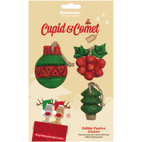 Cupid & Comet Edible Festive Christmas Gnaws Small Pet Treat 3 pc