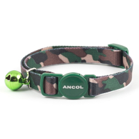 Safety Buckle Cat Collar Camouflage Green