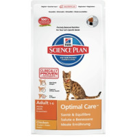 Hills Science Plan Feline Adult Optimal Care Chicken 10kg