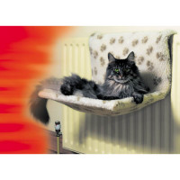 Danish Design Kumfy Kradle Radiator Cat Bed Paw Print Double Radiator