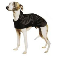 Ancol Muddy Paws Whippet Black Dog Coat 53cm