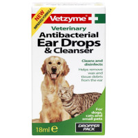 Vetzyme Ear Drops and Cleanser 18ml