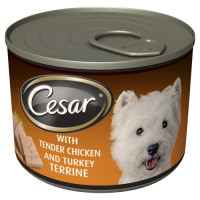 Cesar Can Chicken Adult Dog Food  185g x 12