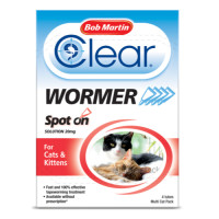 Bob Martin Dewormer for Cats & Kittens Spot On - 4 Tubes