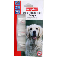 Beaphar Dog Flea and Tick Drops 12 Week Protection for Large Dogs