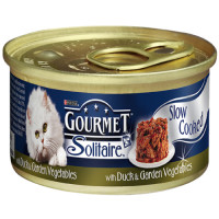 Gourmet Solitaire Duck & Vegetable Cat Food 85g x 12