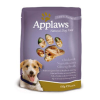 Applaws Chicken & Vegetable Wet Pouch Adult Dog Food 150g x 12