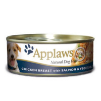 Applaws Chicken & Salmon Wet Can Adult Dog Food 156g x 12