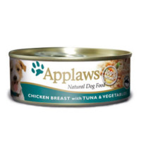Applaws Chicken Tuna & Vegetables Wet Can Adult Dog Food 156g x 16