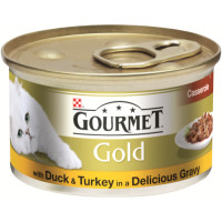 Gourmet Gold Duck & Turkey Cat food 12 x 85g