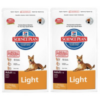 Hills Science Plan Canine Adult Light Chicken 12kg x 2