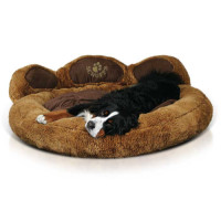 Scruffs Grizzly Bear Dog Bed Brown
