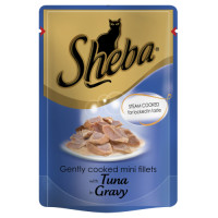 Sheba Pouch Tuna in Gravy Adult Cat Food 85g x 12