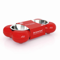 Hing Dog Bone Bowl Red Small