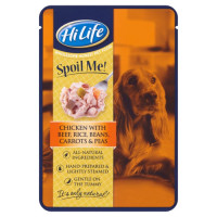 HiLife Spoil Me! Chicken with Beef & Beans Adult Dog Food 15 x 100g