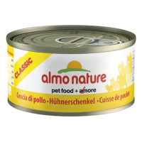 Almo Nature Classic Tins Chicken Cat Food 70g x 24 Chicken Drumstick