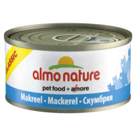 Almo Nature Classic Tins Fish Cat Food 70g x 24 Mackerel